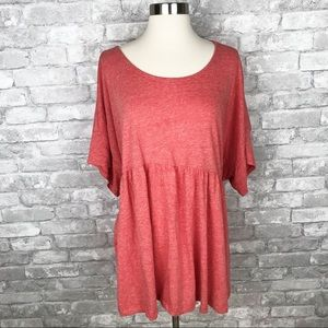 "Anthropologie ""Postmark"" Orange Top Size M/L"